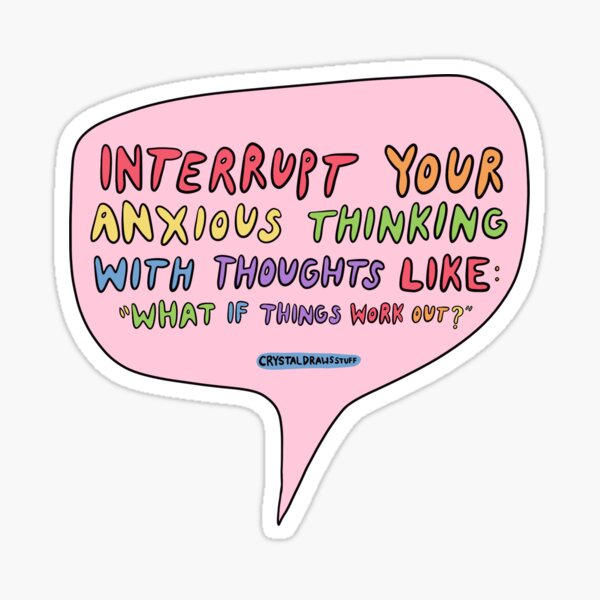 Anxiety Quote Sticker