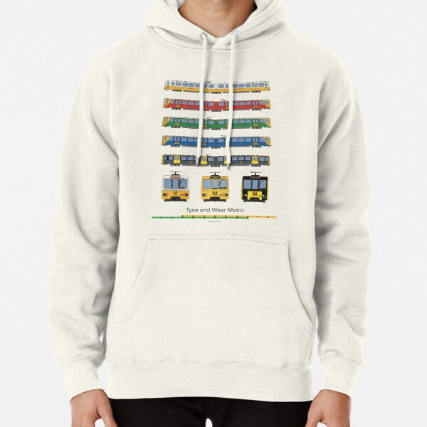 Tyne and Wear Metro Liveries Pullover Hoodie