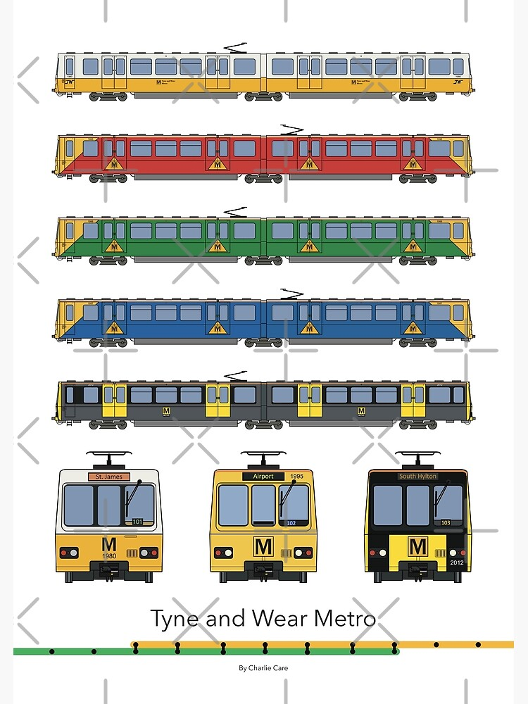 Tyne and Wear Metro Liveries by careful-design