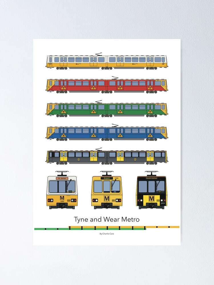 Alternate view of Tyne and Wear Metro Liveries Poster