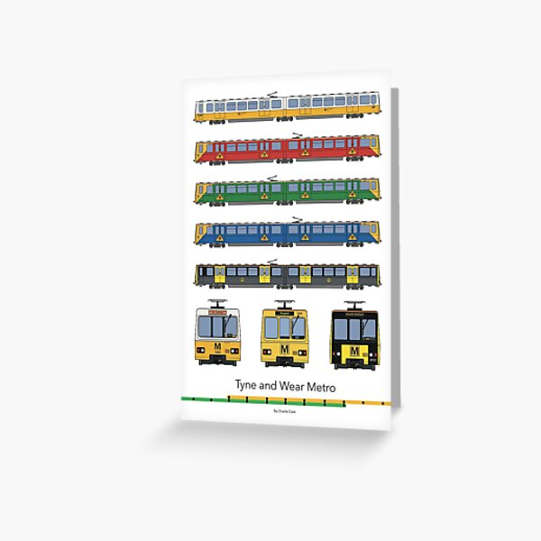 Tyne and Wear Metro Liveries Greeting Card