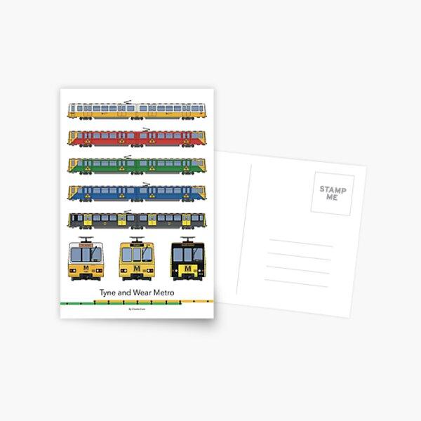 Tyne and Wear Metro Liveries Postcard