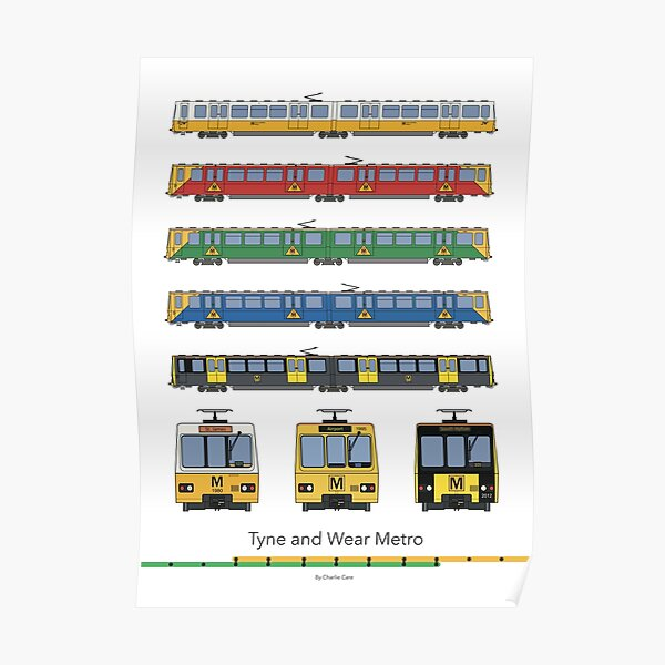 Tyne and Wear Metro Liveries Poster
