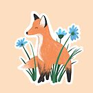Fox & Flowers by Brittany Hefren