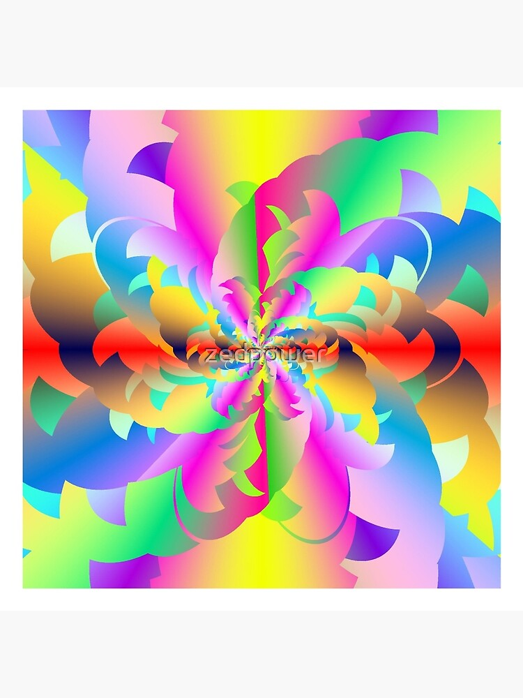 Fractured Fractal Fire Flower Flameout  by zedpower