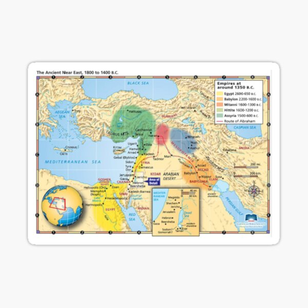 The Ancient Near East 1800 to 1400 B.C. Sticker
