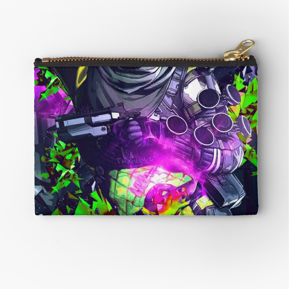 Apex Legends Bloodhound 2 Canvas Cash Coin Purse Make Up Bag Cellphone Bag With Zipper And Handle