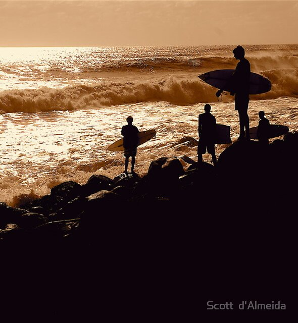 COORDINATED SURFERS  by Scott  d'Almeida