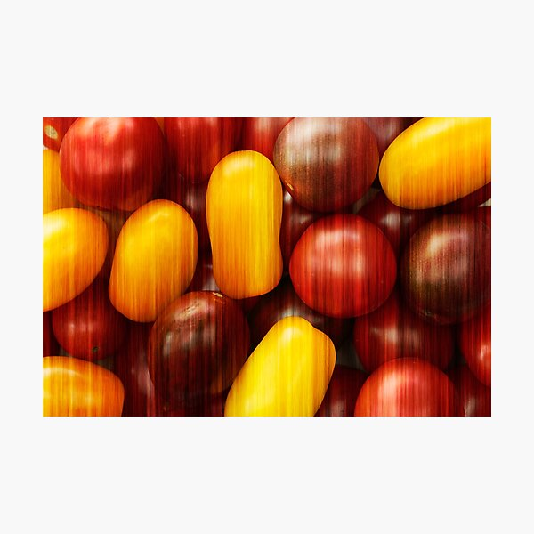 Cherry tomatoes abstract Photographic Print