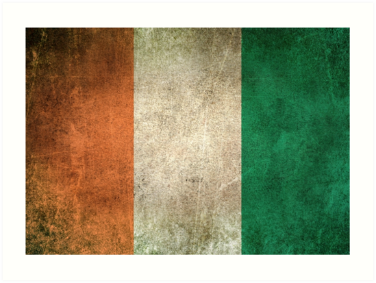 Old and Worn Distressed Vintage Flag of Ivory Coast by jeff bartels