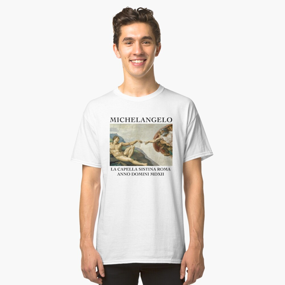 Michaelangelo Kreation von Adam Classic T-Shirt