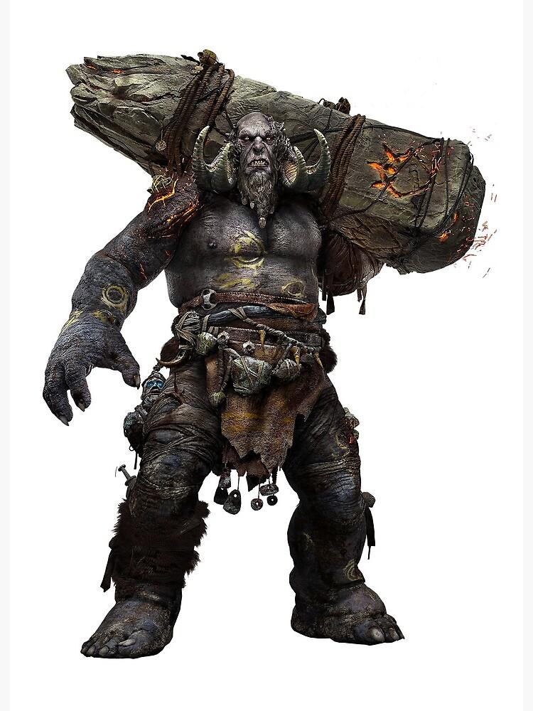 God Of War Troll Art Board Print By Zanyxy Redbubble