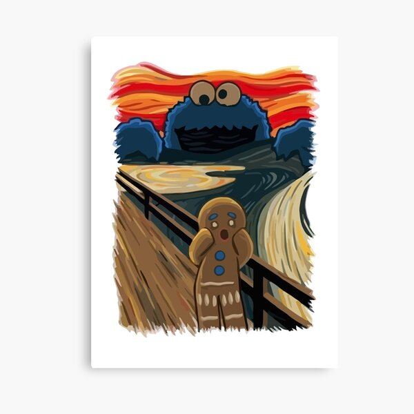 The cry: Cookie monster Canvas Print