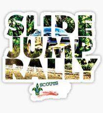 Slide Jump Rally - Colour/Grey Sticker
