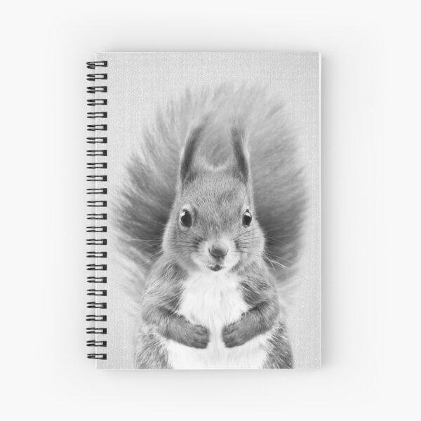 Squirrel 2 - Black & White Spiral Notebook