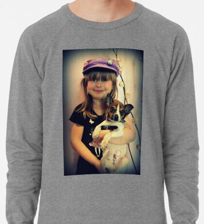 Portrait ~ Girl And Dog ~ Leichtes Sweatshirt