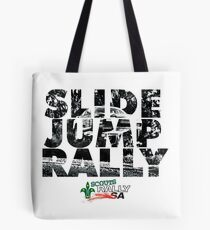 Slide Jump Rally - Black & White/White Tote Bag