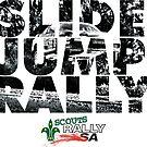 Slide Jump Rally - Black & White/White by Ryan Jones