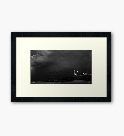 The Black and White Storm Framed Print