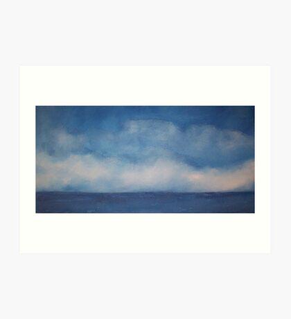 Clouds on blue Art Print