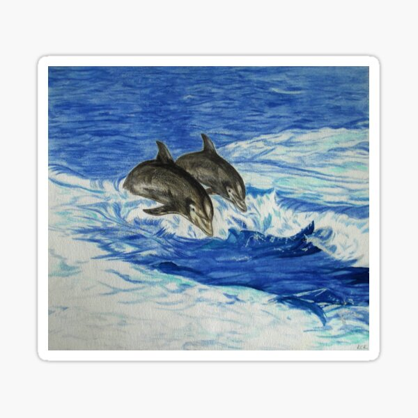 Dolphins in the Ocean Sticker