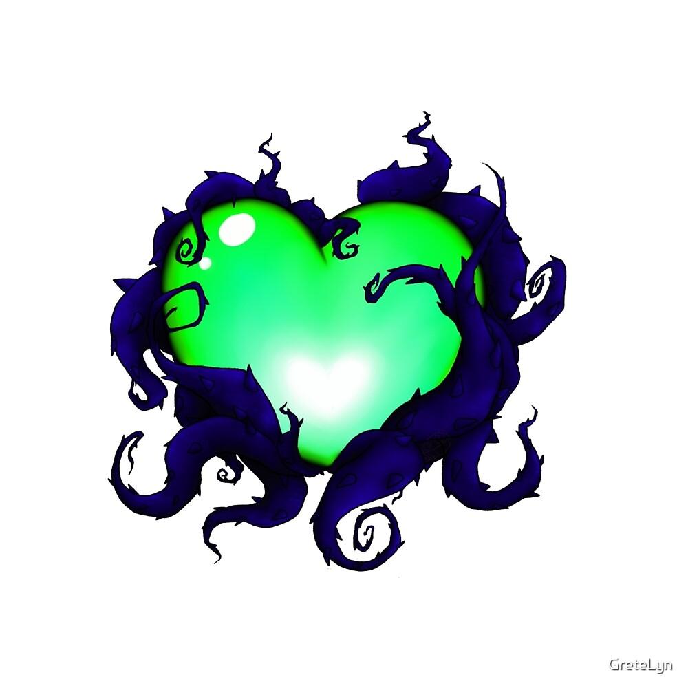 Mystery Heart - Green by GreteLyn