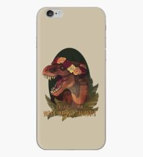Dinosaur Eats Man iPhone Case