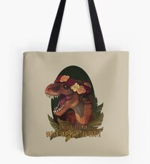 Dinosaurier isst Mann Tote Bag