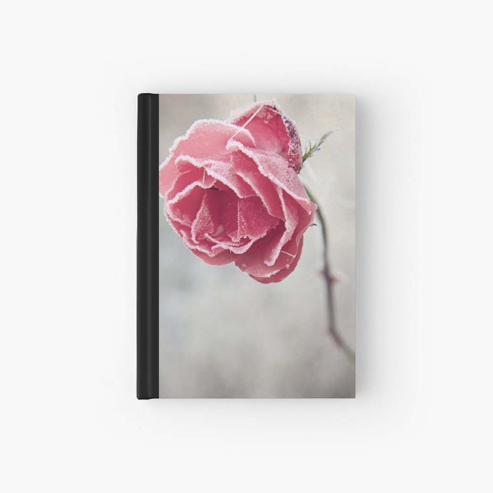Frosted Red Rose Hardcover Journal