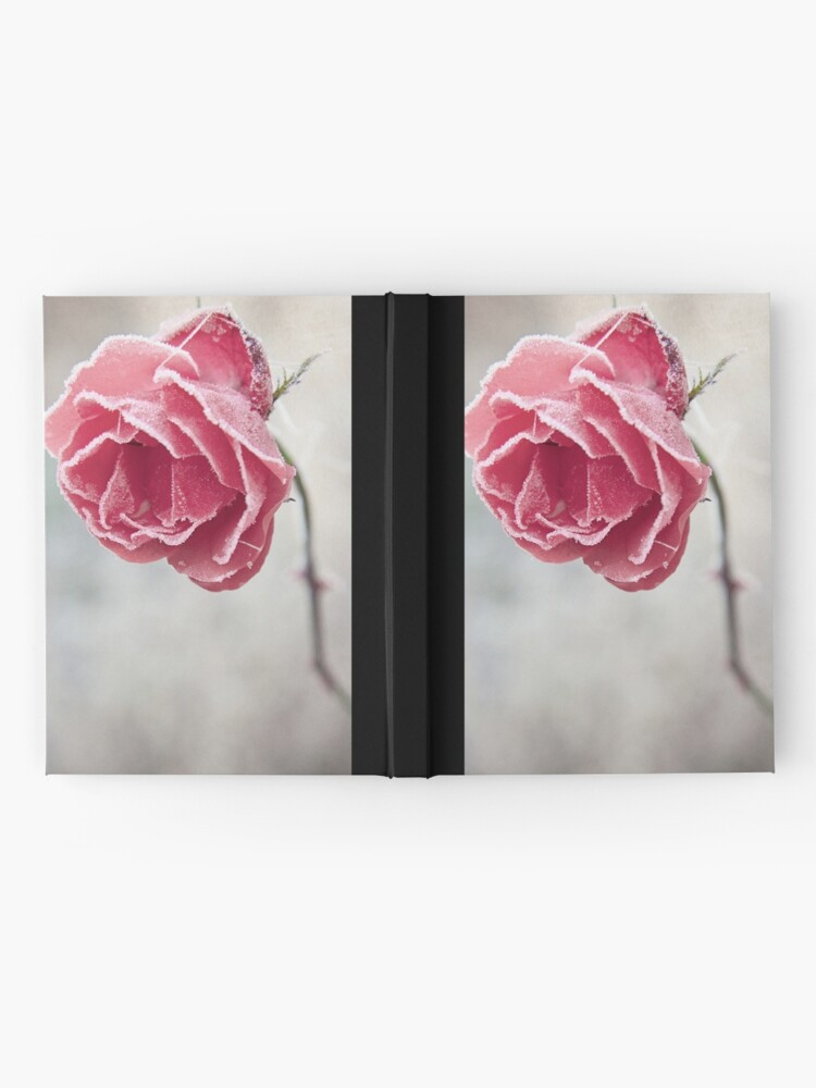 Alternate view of Frosted Red Rose Hardcover Journal
