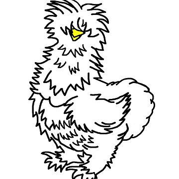 White Silkie Chicken by imphavok