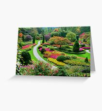 Butchart Gardens BC, Canada in the Fall Greeting Card