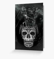 Hell Realm  .. world of the demon Greeting Card