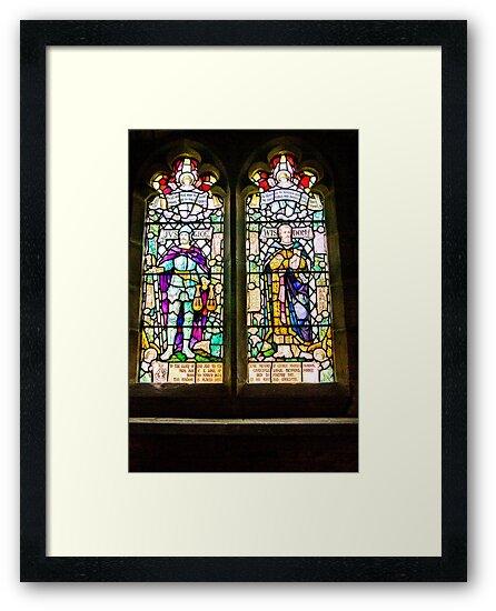 Hubberholme Church Window #1 by Trevor Kersley