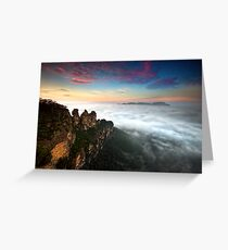 Sunrise at 3 Sisters - Blue Mountains NSW Greeting Card