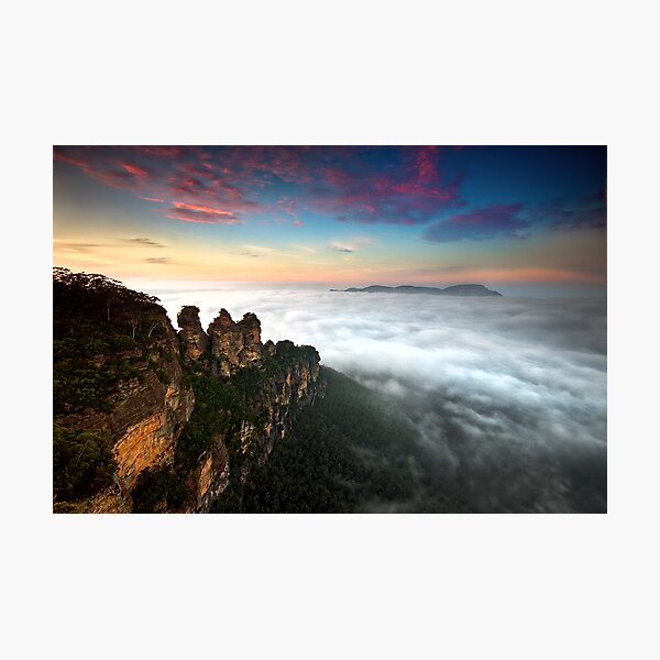 Sunrise at 3 Sisters - Blue Mountains NSW Photographic Print