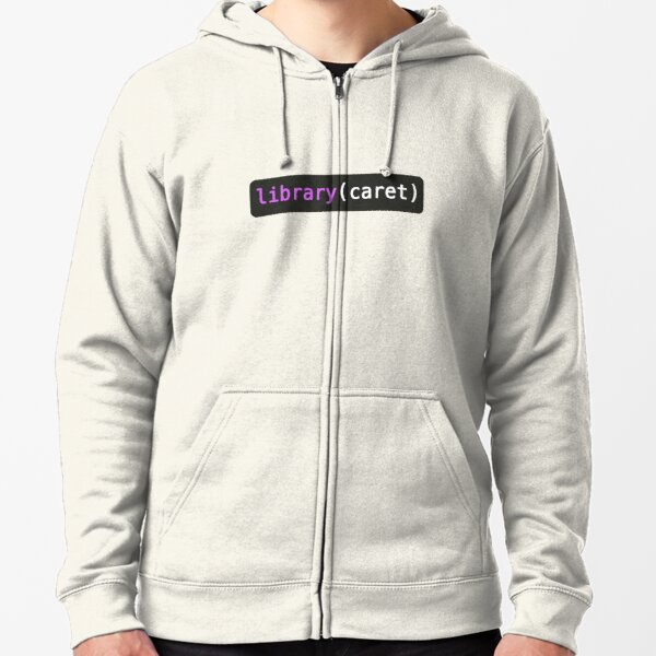 library caret Zipped Hoodie