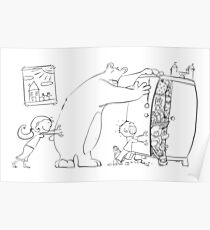 Gustave the big teddy bear Poster