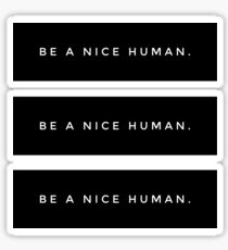 BE A NICE HUMAN. Sticker