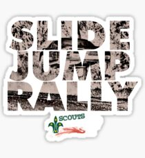 Slide Jump Rally - Black Sticker