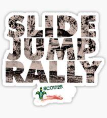 Slide Jump Rally - Black Sticker