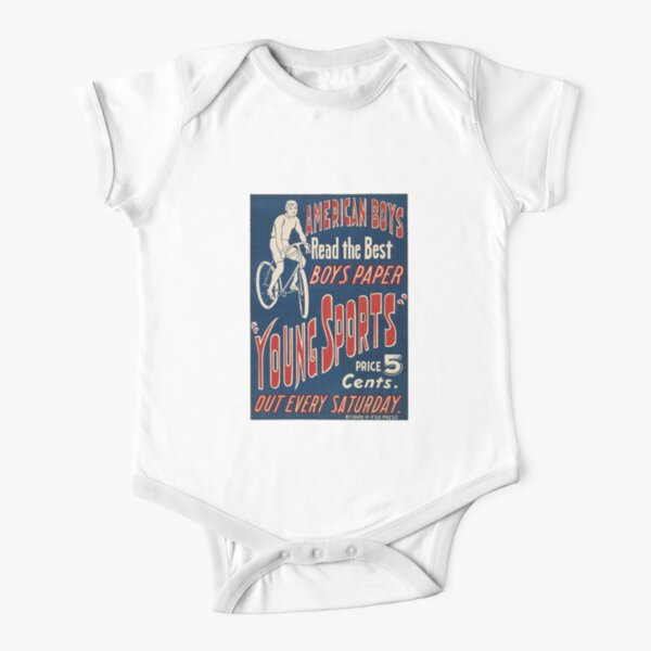 1950's Bicycle Ad Short Sleeve Baby One-Piece