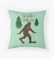 Big Foot Love Throw Pillow