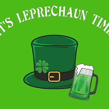 Funny Leprechaun shirt for St. Patrick's Day by Juttas-Shirts
