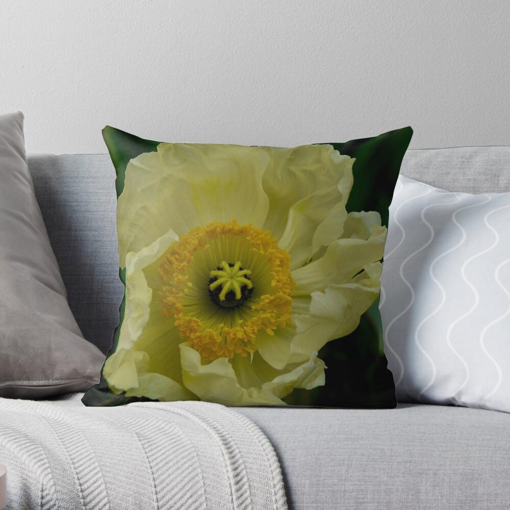 Yellow Cosmo Throw Pillow
