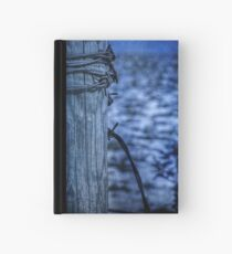 Barbed Wire in Blue Hardcover Journal