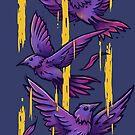 Lila Vögel von c0y0te7