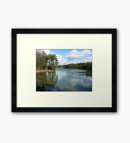 Blue Lake Mirror Framed Print