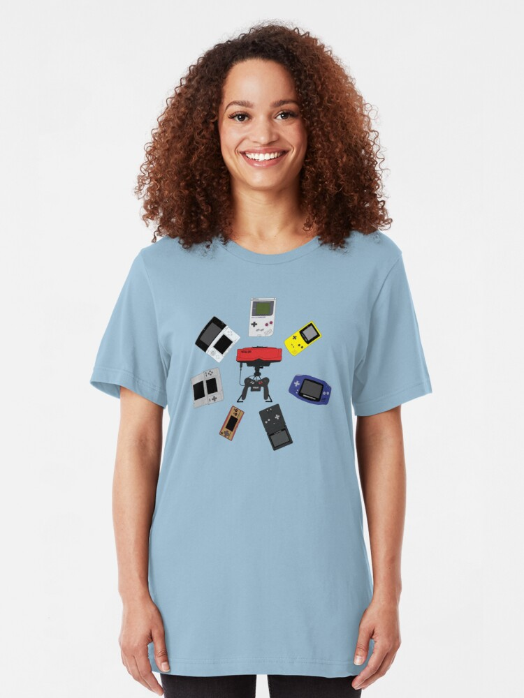 Alternate view of Gameboys + Virtualboy Slim Fit T-Shirt