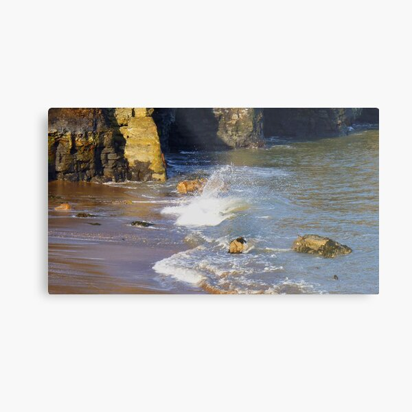 Sandsend Beach - The Gently Lapping Ocean Metal Print